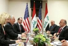 صورة رئيس الوزراء يتبحث مع وزير الخارجية الأميركية تطور العمليات العسكرية وإعادة أنتشار القوات في كركوك