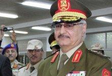 صورة حفتر يرفض أسلوب التهديد الدول العظمى  وبعثة الأمم المتحدة