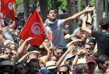 """صورة الرئيس التونسي يندد بأعمال العنف  من الاحتجاجات ويصفهم بـ""""المخربين"""""""