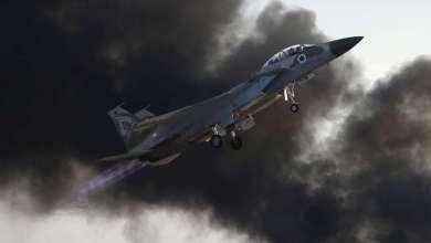 صورة تحطم مقاتلة إسرائيلية بعد هجوم على أهداف إيرانية في سوريا