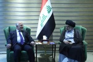 العبادي يلتقي الصدر في بغداد لمناقشة الاسراع بتشكيل الحكومة المقبلة