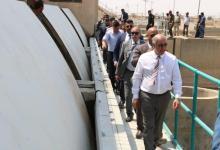 صورة وزير الموارد المائيّة من ميسان :هناك نزول تدريجي في درجة الملوحة وزيادة التصاريف المائيّة