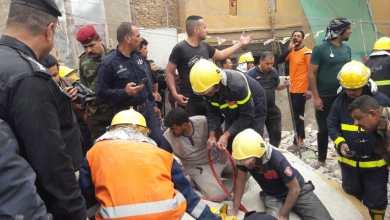صورة انتشال جثتين و٧ مصابين جراء سقوط منزل في الانبار (صور)