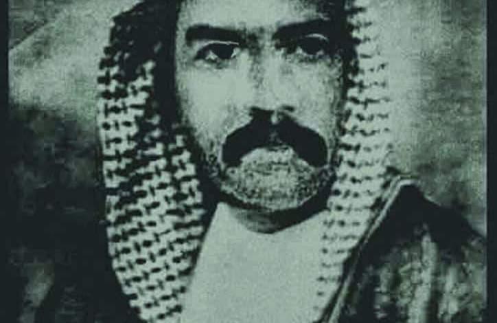 """صورة """"غتار موكع الطيّارة"""" من رجال ثورة العشرين في الديوانية"""