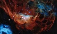 """ناسا تحتفي بهابل بنشر صورة """"الشعاب الكونية"""" المشتعلة بالفضاء"""
