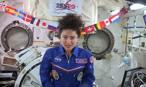 رسالة أميركية من الفضاء لأطفال العراق..(ابتسموا)