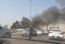 صورة حريق قرب مجمع بسماية ببغداد والدفاع المدني تدفع بتعزيزات لإخماده