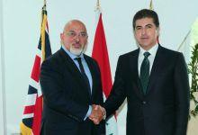 صورة نيجيرفان بارزاني يلتقي أول وزير كوردي في حكومة بريطانيا