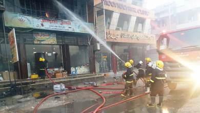 صورة بابل.. الدفاع المدني يسيطر على حريق اندلع داخل بناية تجارية بـ 10 فرق اطفاء