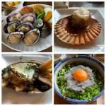 【淡路島グルメ】新島水産 東浦店(店員さんが焼いてくれる活貝のコース)
