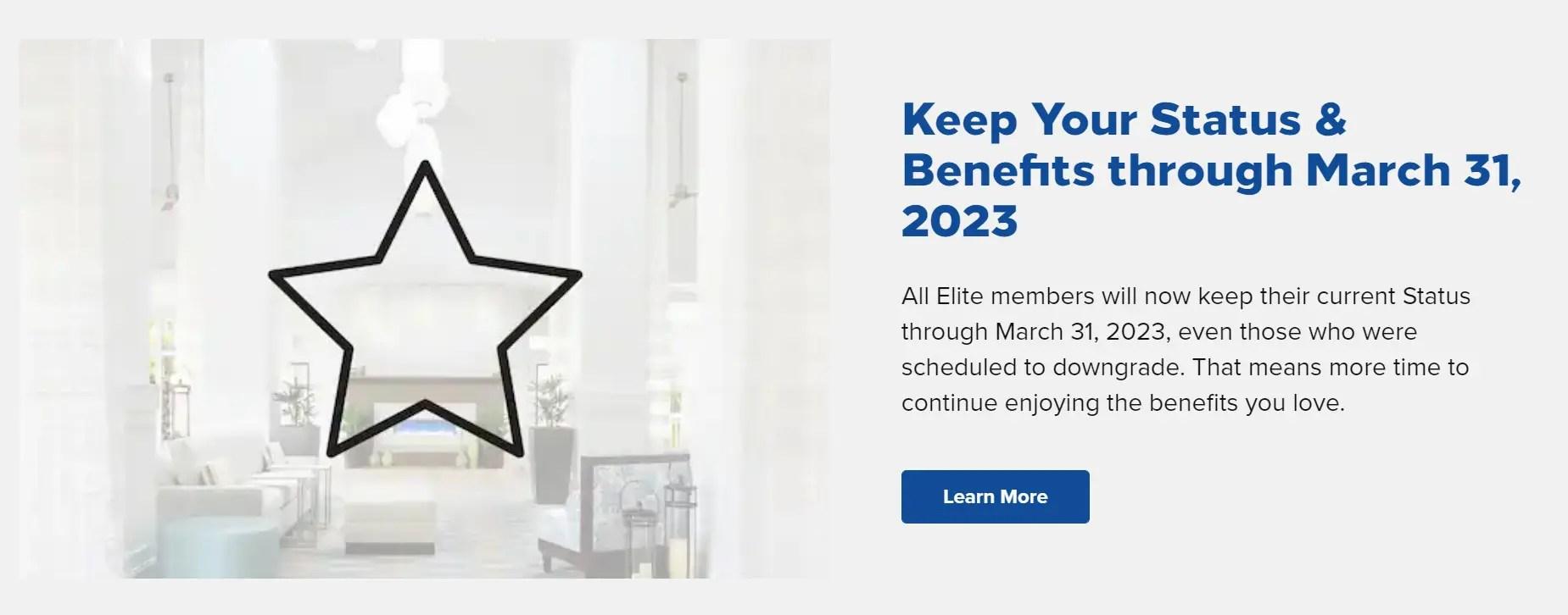 ヒルトンがステータス延長・2022年上級会員資格緩和を発表