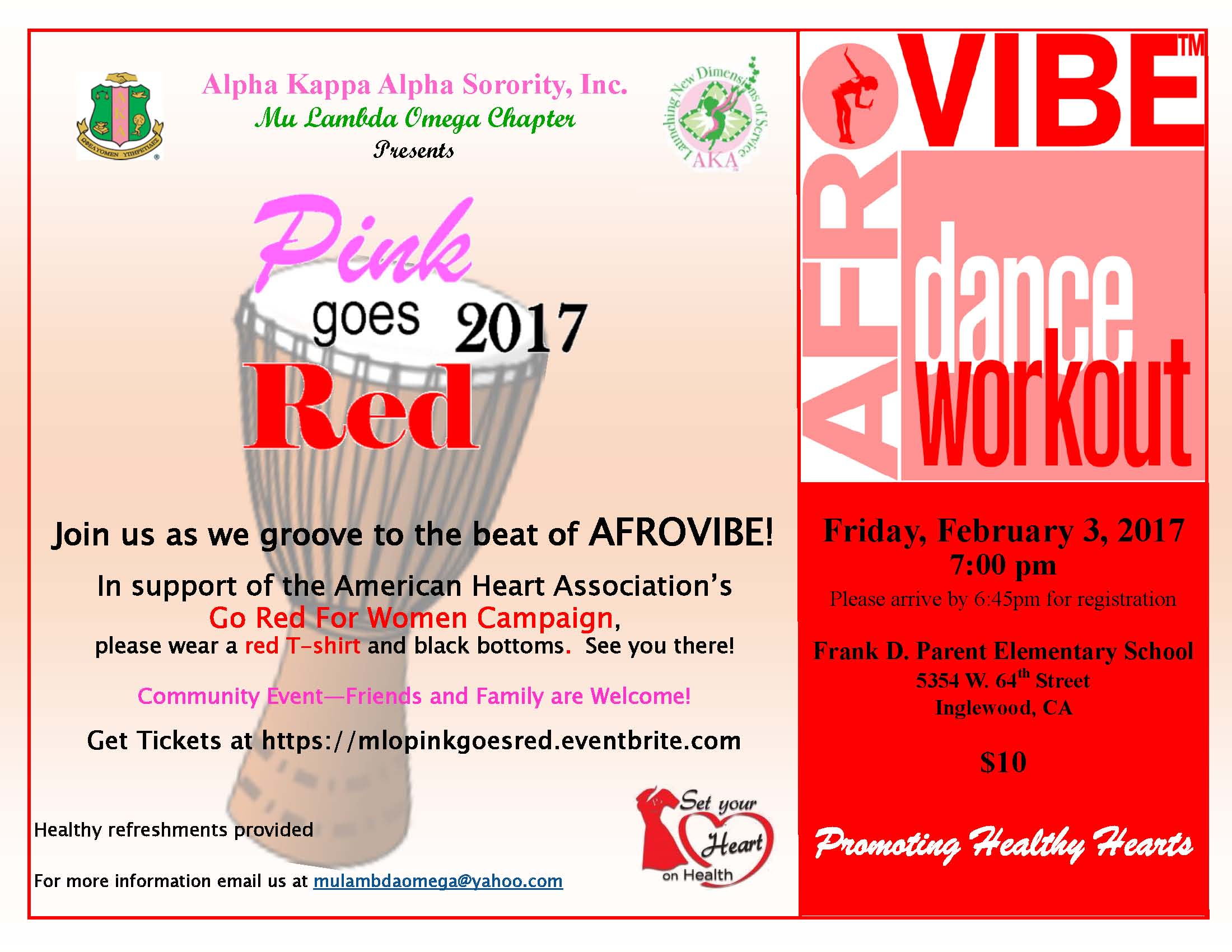 Pink Goes Red For Heart Health Mu Lambda Omega Chapter