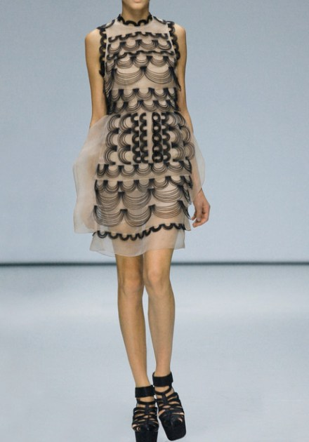 Christopher Kane leather wire dress