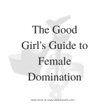 FEMDOM: The Good Girl's Guide to Female Domination (Femdom)