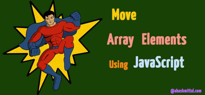 change position of element in array using javascript