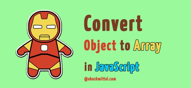 convert object to array in javascript to use in for loop