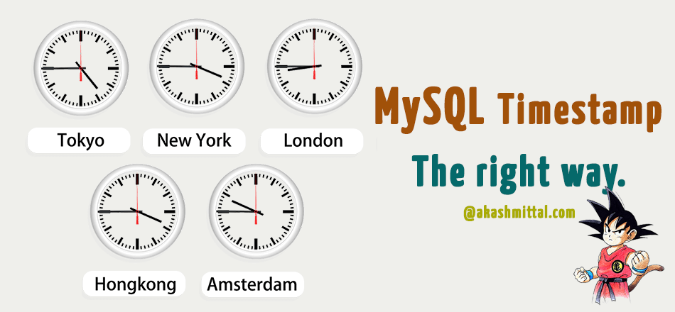 mysql timestamp - the right way to store datetime in tables