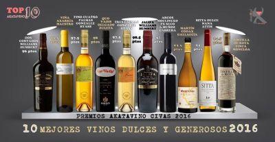 Los 10 Mejores vinos dulces y generosos de España Guia AkataVino 2016