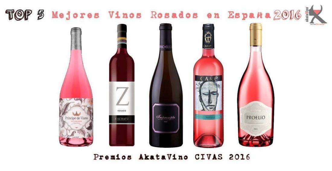 Cartel 5 Mejores Vinos Rosados de España 2016 © AkataVino.es web
