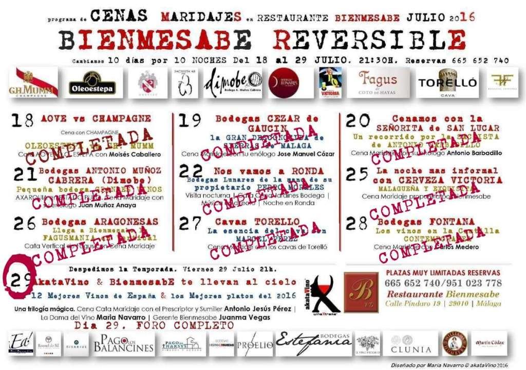 Cartel Almanaque Programa Bienmesabe Reversible 2016 by akataVino Dia 10