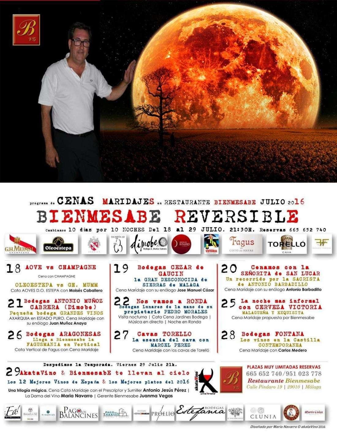 Cartel Bienmesabe Reversible Julio 2016 by akataVino