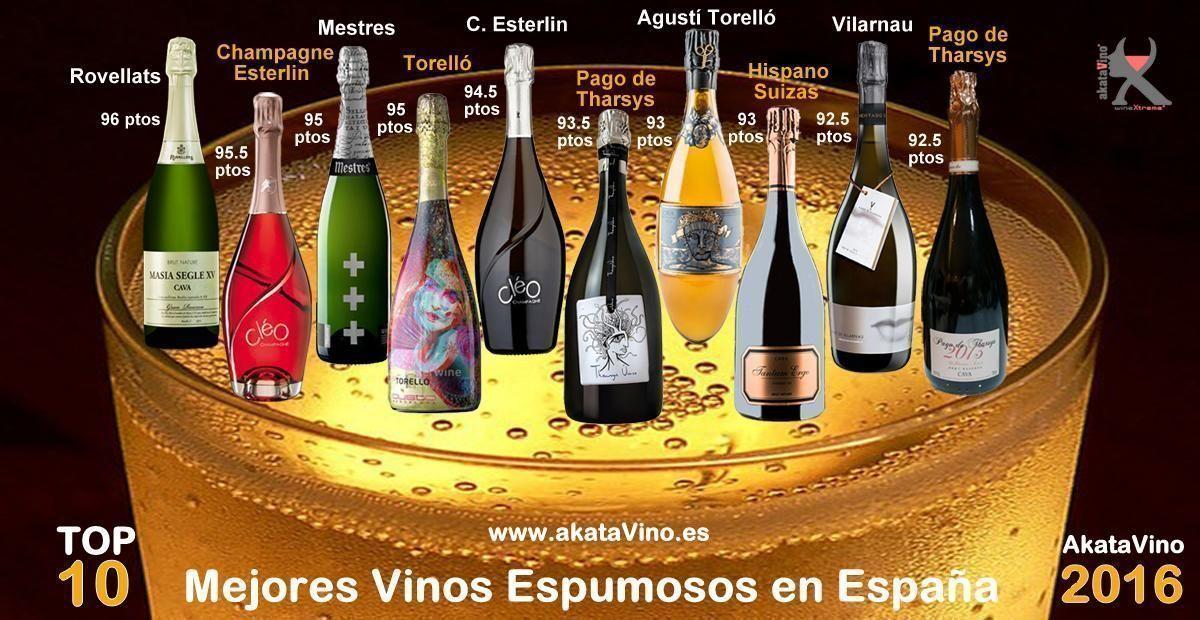 Cartel Los 10 Mejores Vinos Espumosos 2016 Premios AkataVino CIVAS web © 2016