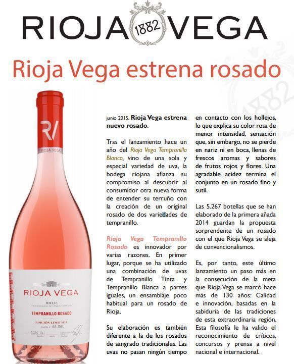 Noticia Rioja Vega Estrena Rosado