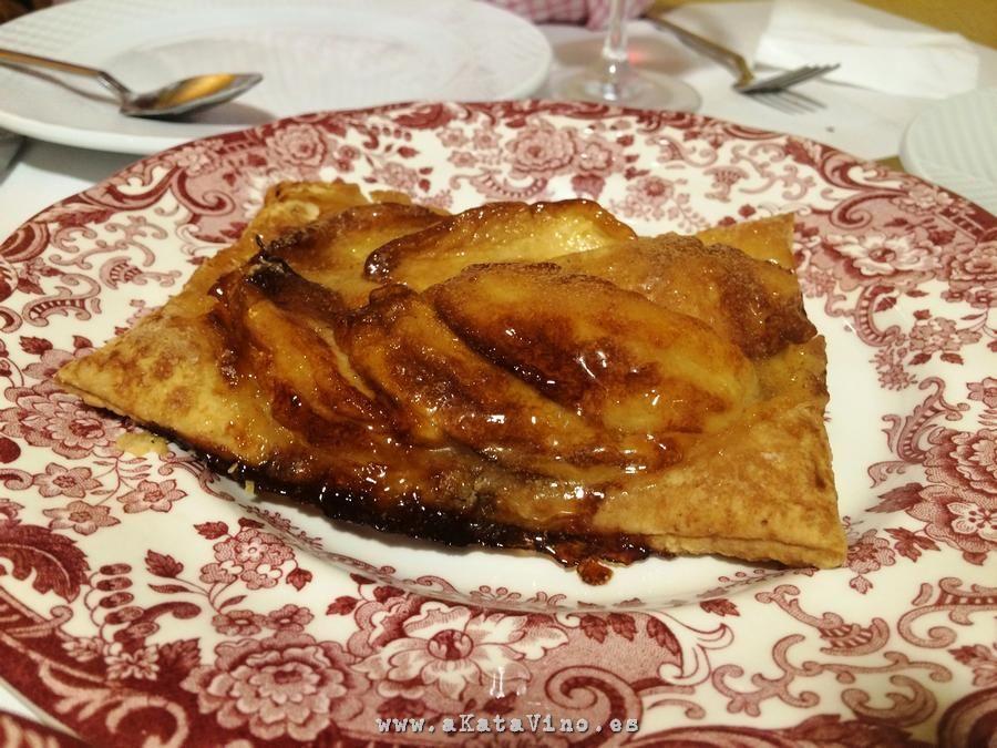 Restaurante La Bahia Tarta de manzana © akataVino