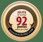Sello 92 Puntos AkataVino © Guiaakatavino.com 150x