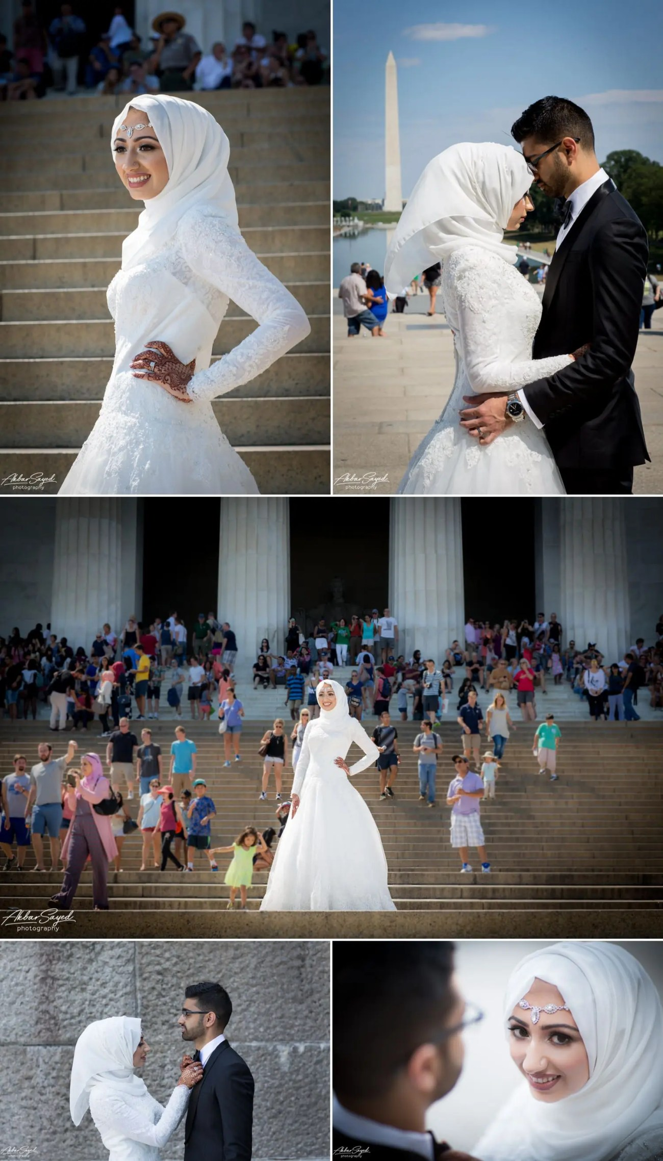 Asad and Sehar - National Mall Bridal Party Portraits 7