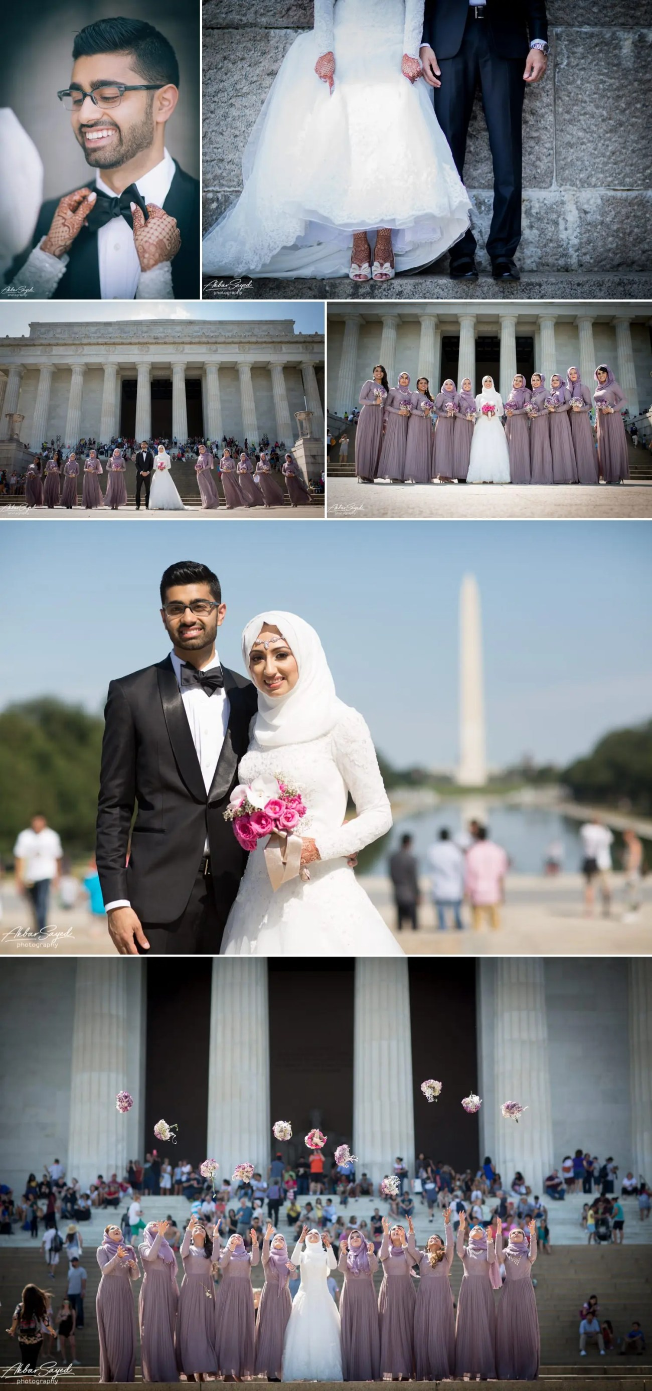 Asad and Sehar - National Mall Bridal Party Portraits 8