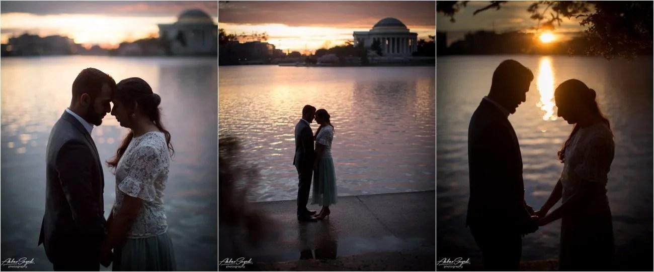 Tidal Basin, Washington DC Engagement, Akbar Sayed Photography
