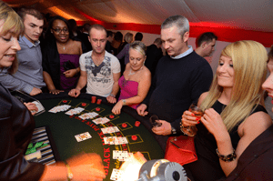 Christmas casino party at Brandshatch Kent