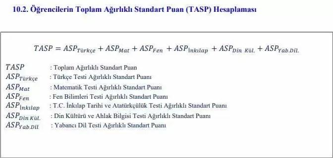 lgs ağırlıklı standart puan hesaplama