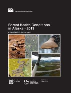 Forest Health Conditions in Alaska - 2013, cover image