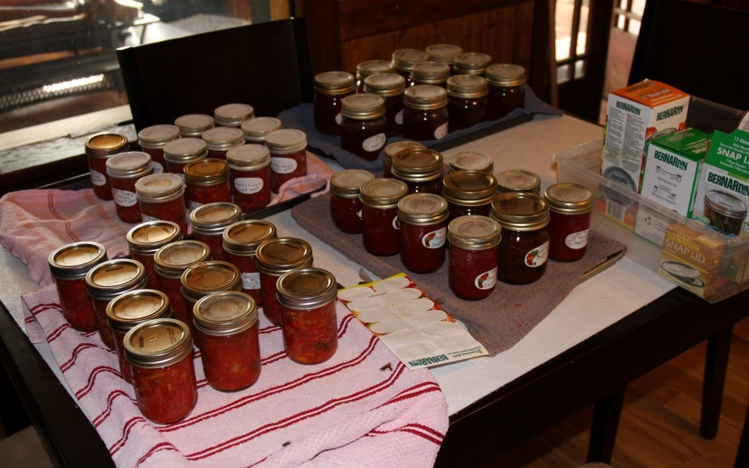 Spending the weekend canning…