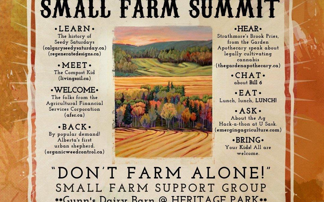 Alberta Small Farm Summit 2018