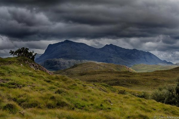 Loch Maree Mountains in Cloud from Poolewe