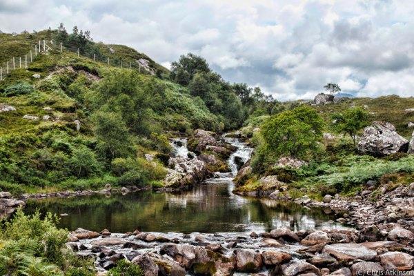 Balgy Falls in Torridon, Scotland