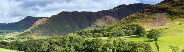 Panorama from Scope Beck Towards Catbells