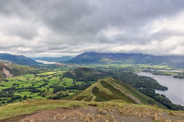 Skelgill Bank from Catbells Wide Angle