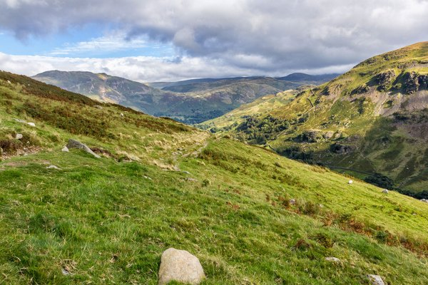 Looking back down the path from Griesdale Bow to Glenridding