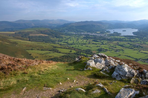 Keswick and Derwent Water from White Rocks
