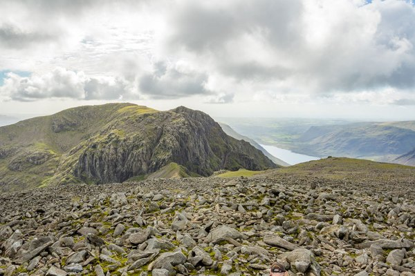 Looking over Scafell and Wastwater from Scafell Pike Summit
