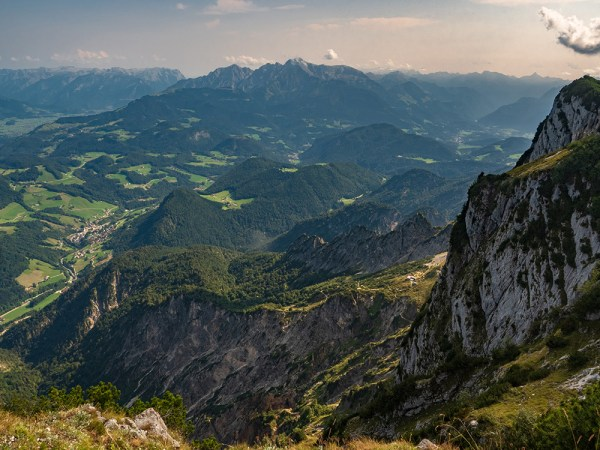 View from Untersberg towards Germany