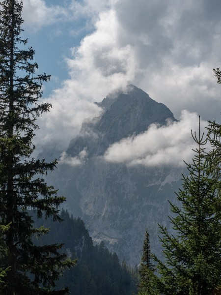 Zugspitze in clouds