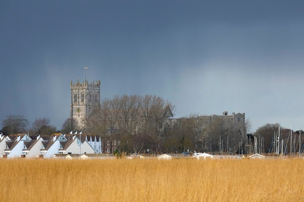 Light before the rain towards Christchurch Priory