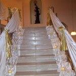 Düğün Merdiven Kumaş Süsleme