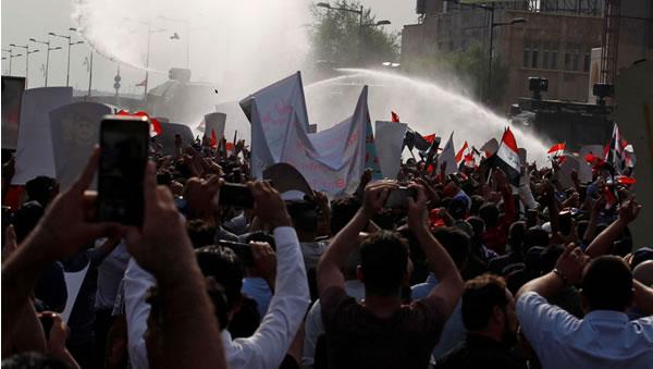 دومين شب تظاهرات در بغداد