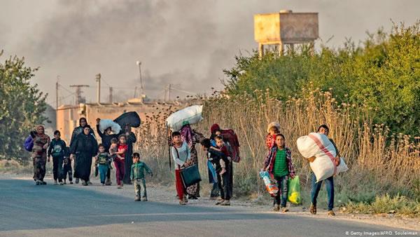 ده ها هزار نفر در شمال سوريه آواره شده اند